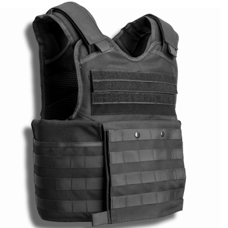commando ballistic vest and plate carrier front