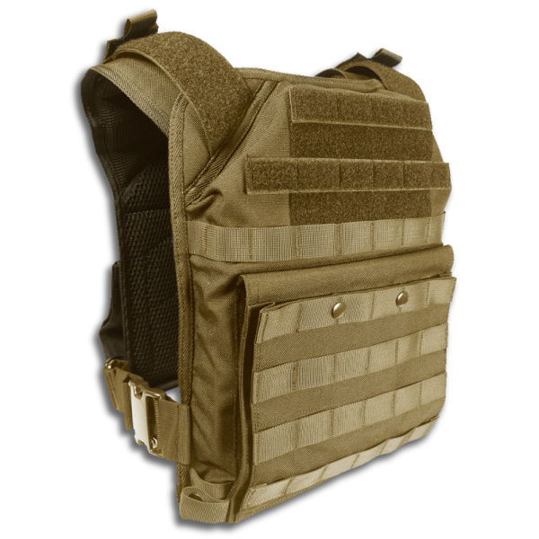operator plate carrier in color tan